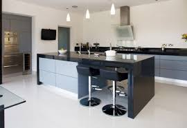 View In Gallery Spacious Kitchen With A Large Island And Simple Metal Bar  Stools View ...