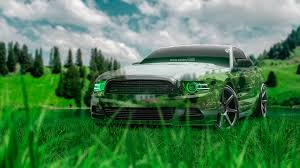 ford mustang gt muscle crystal nature car