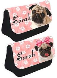 image is loading personalised cute pink pug pencil case