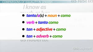 Comparisons Of Equality In Spanish