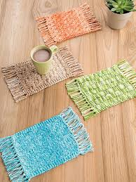 Mug Rug Patterns Delectable Kitchen Knitting Patterns ANNIE'S SIGNATURE DESIGNS Mug Rugs Knit
