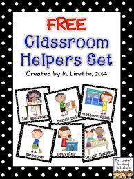 Free Printable Helper Charts Classroom Helpers Set Free Preschool Job Chart