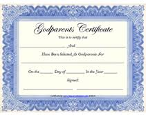 Free Printable God Parents Certificates