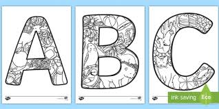 Free alphabet coloring pages, choose from more than 50 fun alphabets to print. Uppercase Alphabet Themed Mindfulness Coloring Sheets Mindfulness