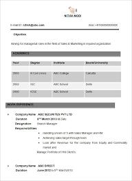 sales resume sample template sample template for resume