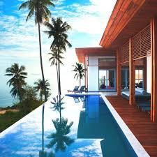 Infinity Pool Backyard Minimalist Awesome Decorating Design