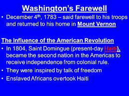 Image result for 1783 washington returned to home