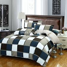brown and blue paisley duvet cover blue khaki brown plaid striped printed bedding set cotton full