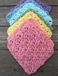 Sugar N Cream Crochet Dishcloth Pattern