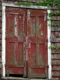 red barn door. Old Red Barn Doors - Pamela Leavey Door