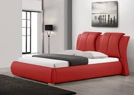 Sunset Modern Platform Leather Bed
