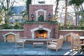 outdoor brick fireplace backyard wood traditional grace design attach stone veneer to