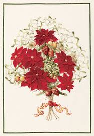 Poinsettia Designs Poinsettia Bouquet Christmas Flowers European Linen Dishtowels Exclusive Designs Tea Towels Elegant 100 Linen Kitchen Towels Christmas