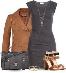 con dress with leather jacket outfit
