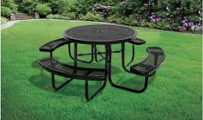 supersaver commercial round picnic table treetop s