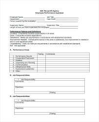 Words For Employee Evaluation Words For Employee Evaluations Review Form Template Word
