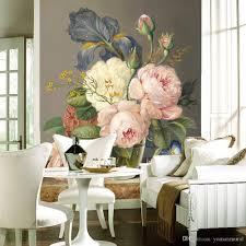 Wall Mural For Living Room Custom Luxury Wallpaper Elegant Flowers Photo Wallpaper Silk Wall