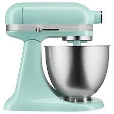 kitchenaid 3 5q artisan mini mixer ice blue