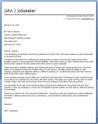 Hvac Downloads Commercial Hvac Installer Cover Letter Resume Cover