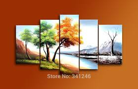 hand painted modern home decoration abstract wall art picture for living room landscape painting trees
