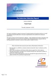 identity self perception business personality questionnaire pre inter