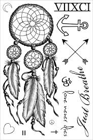 Dream Catcher Tattoo Miley Cyrus Miley Cyrus Dreamcatcher Temporary Tattoo Sheet of Temporary Tattoos 51