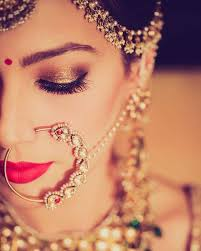 if we said this bride is picture perfect it wouldn t be wrong love the bination of gold smokey eyes red lips wow