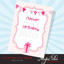 Birthday Card Sample Beauteous Free Printable Birthday Card Template Mujka Clipart Printable