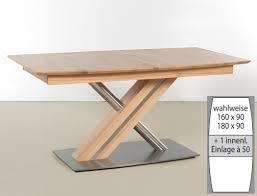 Säulentisch Ataro C 1xl Bootsform Tisch Ausziehbar X Form Esstisch