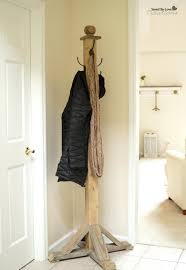 Diy Wood Coat Rack Delectable Diy Standing Coat Rack Wood Pallet Furniture Diy Wood Standing Coat