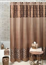 Tan Shower Curtain Brown And Peach Colored Fabric Mint Blue Navy