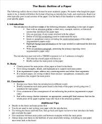 Essay Paper Outline Technical White Template Royaleducation Info