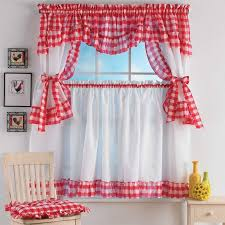 welcome back the old style with retro kitchen curtains