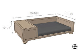 stylish wooden dog bed plan d i y large rogue engineer dimension frame uk with step australium diy