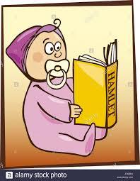 baby ilration cartoon read book child ics hamlet ic witty small tiny