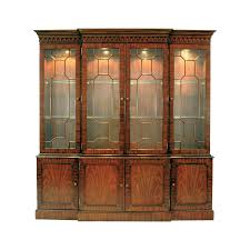 Mahogany Breakfront Lighted China Cabinet   furniture   Pinterest ...