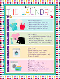 Free Printable Laundry Chart Laundry Sorting Laundry