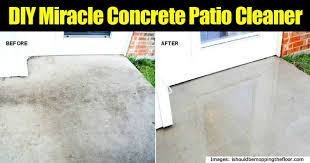 make your own miracle concrete patio