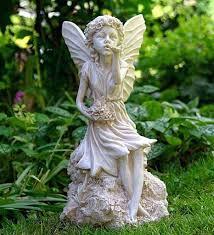 resin garden fairy statues sleeping fairy garden statue concrete
