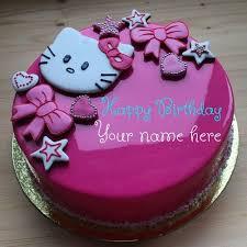 Write Name On Kitty Birthday Cake Hello Kitty Birthday Cake With