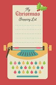 Blank Christmas List My Christmas Shopping List Festive Notebook With Checklist
