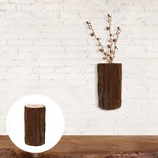 1pc hanging wall vase wooden vase wall