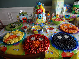 How To Decorate Fruit Tray Sesame Street Party Fruit Trays and Table Decorations Sesame 39