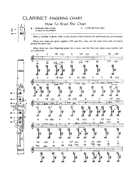 Printable Clarinet Finger Chart Clarinet Fingering Chart Template 4 Free Templates In Pdf