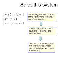 solving systems of equations three variables talkchannels