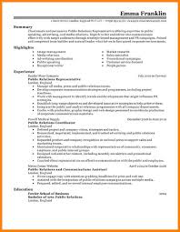 Public Relations Sample Resume Public Relations Resume Sample Luxury Public Relations Resume 20