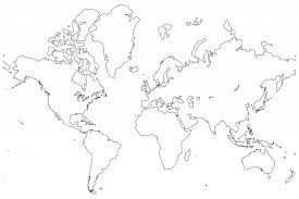 Small Picture Cartoons Clipart World Map Coloring Page Countries world map for