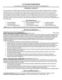 resume of financial analyst 11 best best financial analyst resume templates samples images