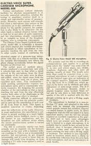 1953 ad for the electro voice 635 646 650 654 and 655 1955 review of the electro voice 666 microphone in phantom productioons vintage recording collection
