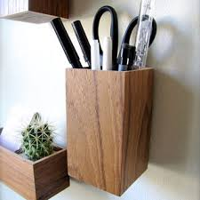 Hanging Organizer, Pencil Holder, Floating Desk Organizer, Wall Mounted  Organizer, made from
